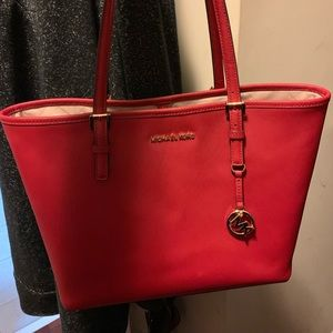 Red Michael Kors Tote/Purse